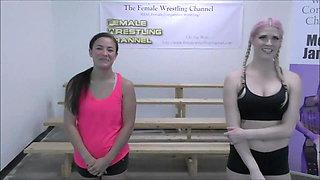 Introducing Jasmine! Monroe vs Jasmine Female Wrestling