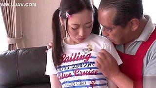 Sexy Japanese teen slut in hot fingering porn video