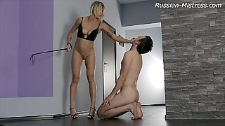 Pussy and ass worship fun for a leggy mistress in heels