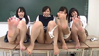 Rin Momoi, Ruka Kanae, Yuri Shinomiya, Aimi Usui in Masturbation Instruction 3 Pretty JK part 6