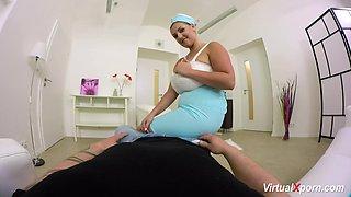 Extreme hot pov titjob with big natural breast stewardess