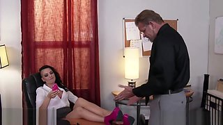 Sexy alt babe Rachael Madori blackmails boss for sex - Naughty America