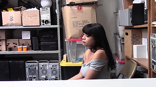 Randy ARYANA rides BIG GUARD's cock in the OFFICE