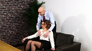 Clothed office british dominas sissify boss