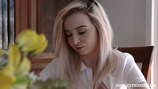 Fresh romantic Lexi Lore lures her stepdad and gets poked doggy style