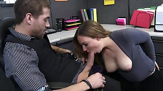Tiff Bannister fucking in the office with her natural tits