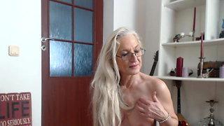 Granny dancing naked