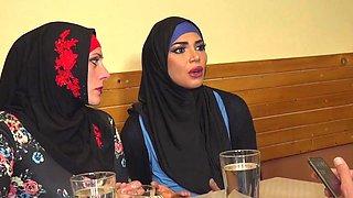 Arab woman spread her legs