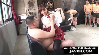 Japanese teen schoolgirl gangbang