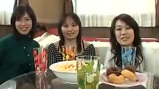 A Group Of Asian Chicks Give Head And Jerk Off One Lucky Du