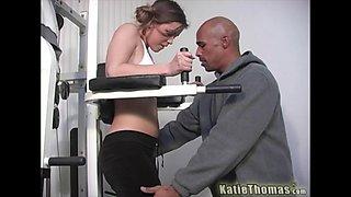 Fabulous Katie Thomas hard sex at the gym