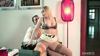 Blonde European secretary