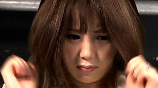Helpless Japanese chick with lovely tits gets banged rough