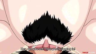 Busty anime mom fucks a schoolboy gamer - Uncensored Scene