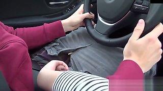 Amateur Blonde Blowjob A Car