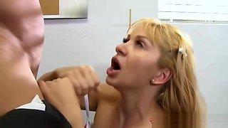Dirty Blonde Teen Nympho Lea Lexis Fucks Her Professor