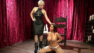 Hot lesbian femdom with Helena Locke and Syren De Mer