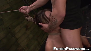 Asian babe Mena Li dominated over and roughly fucked