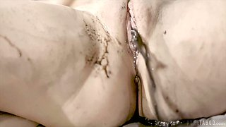 Brunette babe fucks Penny Pax with fingers and sex toy