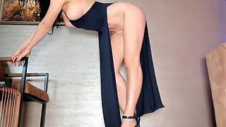 Deline leggy dress tease