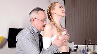 Tricky Old Teacher - Cutie uses her body
