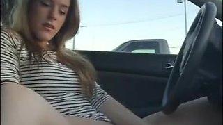 fantastic amateur teen masturbating in her friends' car