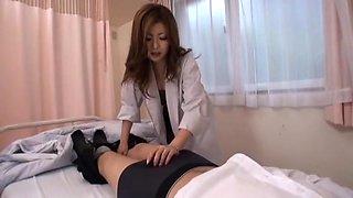 Best Japanese chick Rio Hamasaki in Incredible Nurse, Blowjob JAV movie