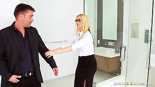 Two cocks are all naughty Sarah Vandella wants up her holes
