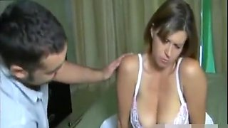 Big tits wife has a guest in hotel room
