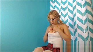 Virgin School Girl Fingers Herself