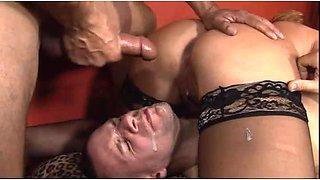 Bad girl Tara Rochester has fun with two bisexual guys