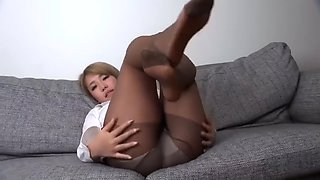 Sexy tease in nylons