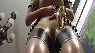 Transparent latex piss