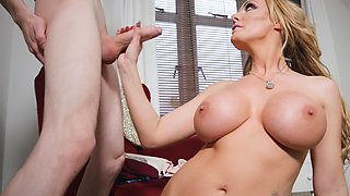 Mom fucks her sons friend and loves that big cock