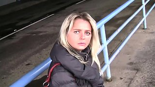Bitch STOP - Blonde Czech MILF picked up at the bus station