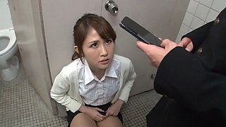 Female teacher seduce student in toilet