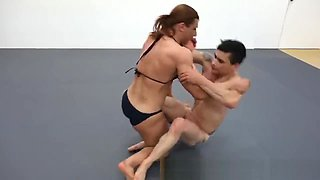 muscle wrestling girl