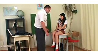 Abusive Old Teacher Bangs A Teen Schoolgirl