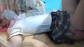 Japanese schoolgirl gets fucked for money