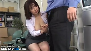 Jav huge boobs secretary gets tits fucked