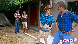 Country foursome in great hardcore with Britney Light and Rosalyn Sphinx