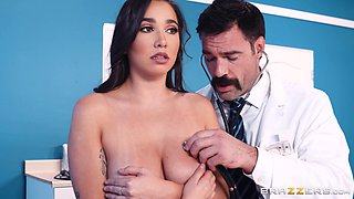 Busty teen babe Karlee Grey fucked and cum sprayed by her doctor