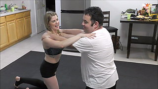 Lizzy & Monroe vs Patrick Real Mixed Wrestling