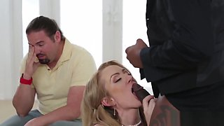 Cuckolding MILF screwed by big black cock