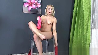 Honey pees on her heels and licks them