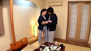 Lustful Oriental housewife has her lover banging her pussy
