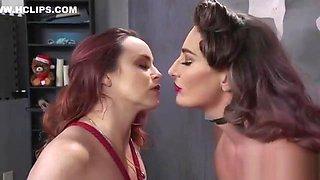 Huge tits slave anal fucks mistress