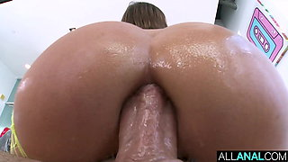 ALL ANAL Adriana and Brooklyn's butt fucking fun