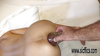 Double anal fisting amateur MILF Maria