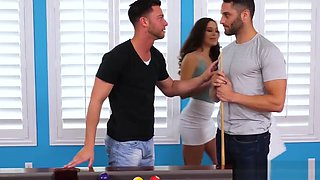 Lana Rhodes takes two dicks in a threesome - Naughty America